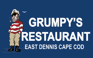 Welcome to Grumpy's Restaurant in East Dennis, MA Cape Cod Logo
